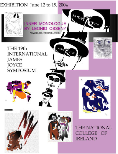 Poster for J. Joyce symposium. Dublin 2004, 2004